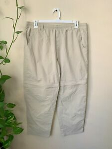 Columbia PFG Men's XL XXL Pants Performance Fishing Gear Beige Convertible