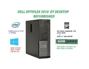 Dell Optiplex 3010  DT DESKTOP  Core i3-3220  W/DVD  Heat sink Fan PSU, custom