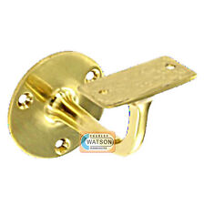 "PACK 2 63mm 2.1/2"" BRASS HANDRAIL Bracket Staircase Banister Disability Support"