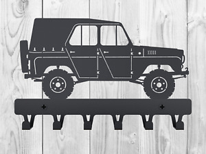UAZ 469 Bobik minivan metal hanger Gift wall key hanger Soviet vehicle Car