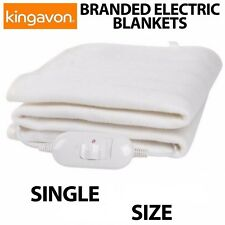 Single Size Electric Blanket For Bed Machine Washable Heated 3 Temp 120 x 60 cm