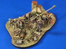 Verlinden 1/35 7.5cm PaK 40 Gun Diorama Base Ammo, Gear & Crew (3 Figures) 2768