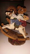 Boyd's Bears Retired Pop with Chrissy Giddy Up Rocking Horse Figurine #228371