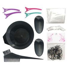 8X Hair Dye Dye Brush Comb Mixing Bowl Ear Shower Cap Vogue Disposable Glove