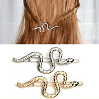Women's Punk Simple Hairpin Snake Metal Hair Clip Headpiece Barrettes Hair Acces