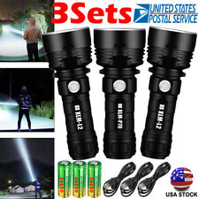 Tactical 990000LM P70 LED Flashlight 3 Modes Rechargeable Torch w/ 26650 Battery