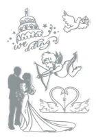 WEDDING Clear Stamp Set - Scrapbooking Stamping  SALE