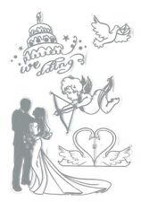 Clear Stamp Set - WEDDING - Scrapbooking Stamping