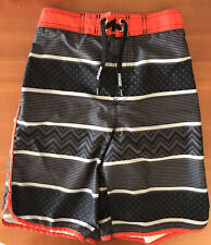 ~Nice Condition~ Joe Boxer Swim Shorts Trunks UnLined: Black, Orange (14-16)