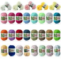 New 8 Colors Soft Bamboo Crochet Cotton 50g Knitting Yarn Baby Knit Wool Yarn