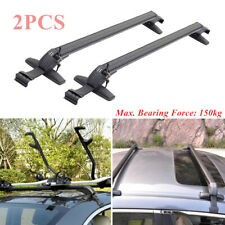 2× Car SUV Roof Rail Luggage Rack Baggage Carrier Cross Aluminum Alloy 110*5*7cm