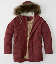NWT  Abercrombie & Fitch Vintage Inspired Parka Down Jacket men's size S SAVE!!