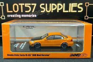 INNO64 Honda Civic Ferio Vi-RS JDM Mod Version Orange w/ extra wheels & Decals