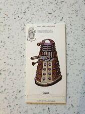 ORIGINAL DR WHO WEETABIX 1975 MINT BLOCK 1 - Draconian, Dalek white robot & Yeti