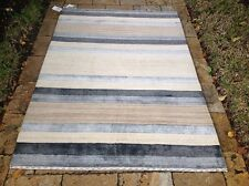 """Contemporary Indian hand made Cream Wool Area Rug 5' 8"""" X 9'"""