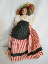 SMALL CELLULOID DOLL FROM FRANCE DRESSED IN THE COSTUME OF MARSEILLES OR NICE