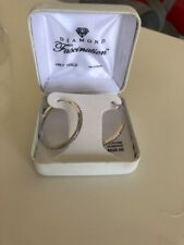 14ct 14k White Gold Hoop Earrings