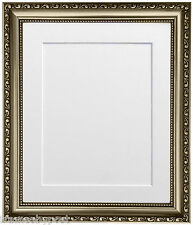 Shabby Chic Gunmetal Photo Picture Frames with Mount & Backing Boards