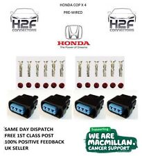 4 x Honda K Series Pencil Coil Plug Connectors COP Civic, Acura, S2000,PRE-WIRED