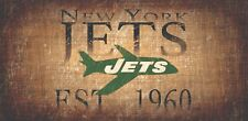 """New York Jets Retro Throwback Established 1960 Wood Sign - Wall NEW 12"""" x 6"""""""