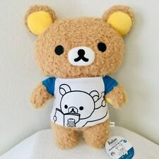 San-X Rilakkuma Casual T-shirt Fluffy Plush BIG 44 cm Toreba Japan