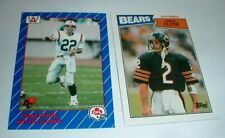 Lot-2 DOUG FLUTIE Football Cards 1987 Topps #45 1991 AW Sports CFL Rookie RC #7