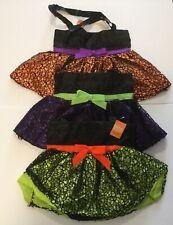 (Set of 3) BURTON & BURTON Halloween Satin Bags w/ Ruffled Skirt & Web Overlay