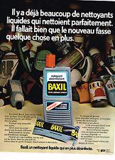 PUBLICITE ADVERTISING 025  1973  BAXIL   produit désinféctant liquide
