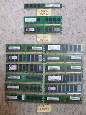 DDR2 RAM Lot of 15 - 512MB, 1GB, 2 GB Mixed Brand Various Speeds Memory Desktops