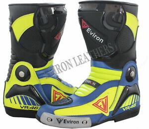 VR Motorcycle Motorbike Leather Boots Racing Waterproof shoes