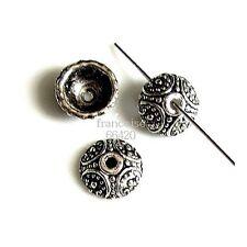 10 Caps calottes coupelles arg. 10x10x4mm Perles apprêts création  bijoux _ A333