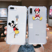 Cute Disney Mickey Minnie Soft Clear TPU Case Cover For iPhone 6 7 8 X XR XS Max