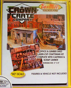 Bar Mills #422 (HO Scale) Crown Crate Company (Kit) Building Kit