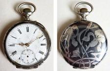 style jugendstil silver watch 77 gr Silver pocket watch art nouveau modern