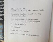 Viaje a Sodoma/Mercedes Salisachs/Editorial Planeta/1977/2ª edicion