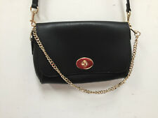 Coach  RARE mini Ruby crossgrain leather crossbody bag black #34604 EUC