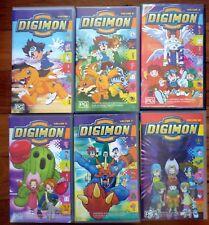 DIGIMON Digital Monsters VHS PAL Videos x 6 Volumes 1, 2, 4, 5, 7 & 10