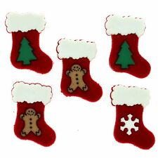 Jesse James Embellishments ~ Dress It Up ~ CHRISTMAS STOCKINGS 1185 ~ Crafts Sew