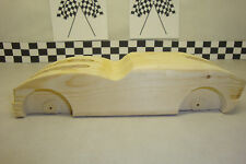 "Pinewood Derby Pre-cut, #134, ""Angry Bird"" Cool Fins & Fenders!"