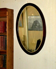 "Victorian Mahogany Oval Wall Mirror Bevelled Plate 31"" x 21"" - FREE P&P [PL3340]"