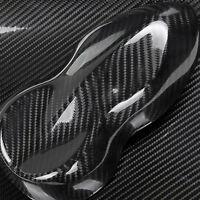 5D Ultra Shiny Glossy Black Carbon Fiber Vinyl Wrap Sticker Decal High Quality