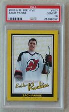 PSA 10 GEM MINT ZACH PARISE Rc 2005 Bee-Hive YELLOW #107 Rookie