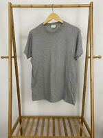 VTG Calvin Klein Men's Blank Gray Single Stitch T-Shirt Size M