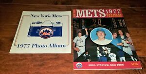 1977 METS VINTAGE LOT: OFFICIAL PHOTO ALBUM & FIRST EDITION YEARBOOK TOM SEAVER+