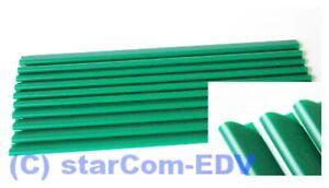 10x Klemmschiene Klemmbinder Klemmen grün DIN A4 Clip Klemmschienen Klemme 3-6mm