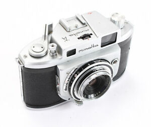 MINOLTA A, 45/3.5 CHIYOKO, BAD SHUTTER & RF, OTHER ISSUES, AS-IS/201375