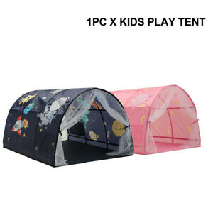 Boys Girls Kids Play Tent Bedroom Decor Inner Pocket Sleeping Double Net Curtain