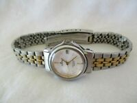 Lorus Wristwatch Silver & Gold Tone Stainless Steel Band Date Indicator REPAIR