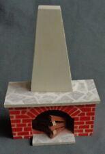 vintage LISA LUNDBY POPPENHUIS 1:16 houten haard H12xB8cm DOLLHOUSE fireplace