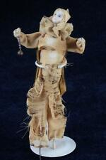 """Antique 19thC Rare French Bisque Harlequin Doll Porcelain Clown Jester 8"""" France"""